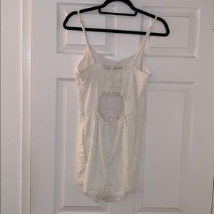 Lovers + Friends Pants - LOVER + FRIENDS WHITE LACE ROMPER. BRAND NEW! Sm